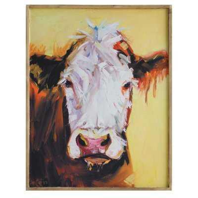 Cow Framed Painting Print on Canvas - Wayfair