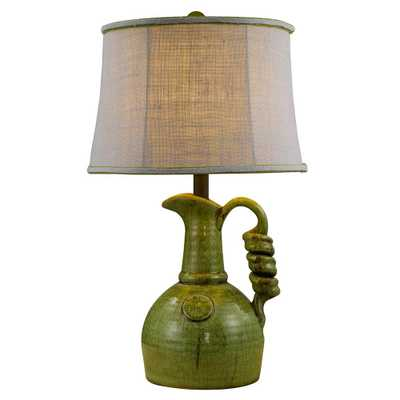 Homestyle 24 in. Green Table Lamp - Home Depot