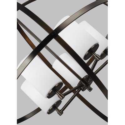 Raine 5 - Light Shaded Globe Chandelier - AllModern
