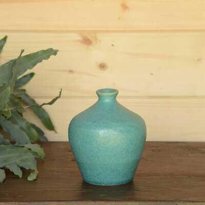 Ostrom Urn Vase - Teal - Wayfair