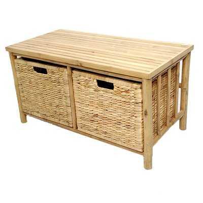 Elim Bamboo Storage Bench - Wayfair