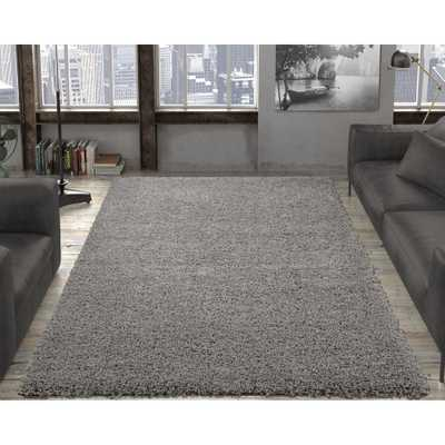 Contemporary Solid Grey 8 ft. x 10 ft. Shag Area Rug, Gray - Home Depot