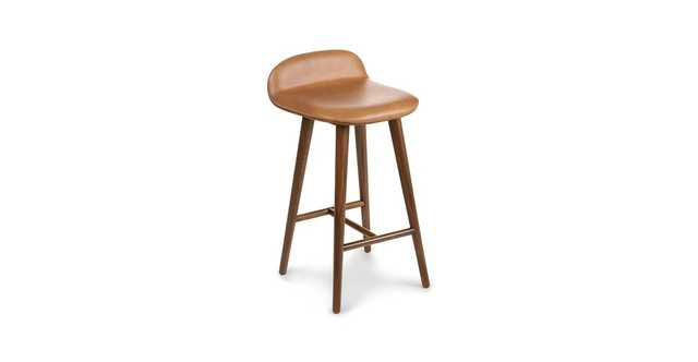 Sede Toscana Tan Walnut Counter Stool - Article