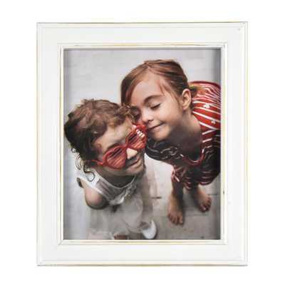 Fetco Longwood Rustic White 8 in. x 10 in. Picture Frame, White & Off-White - Home Depot