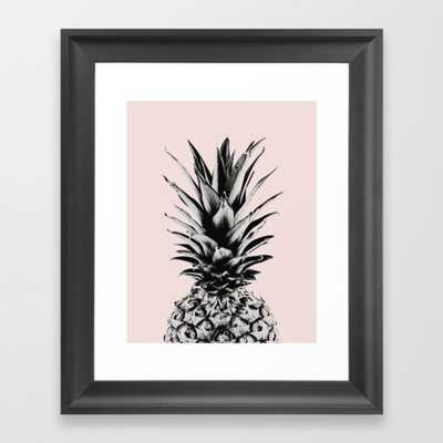 Pineapple in pink Framed Art Print - X Small 10'' x  12'' - Society6
