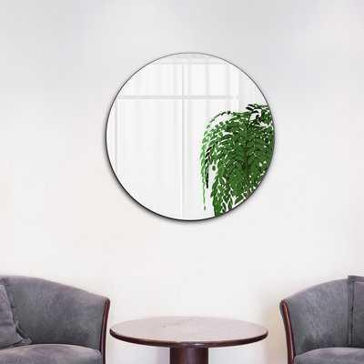 Shania Frameless Beveled Round Bathroom/Vanity Mirror - Wayfair