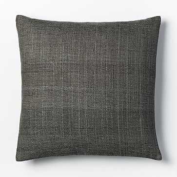 """Silk Handloomed Pillow Cover, 20""""x20"""", Shale - West Elm"""