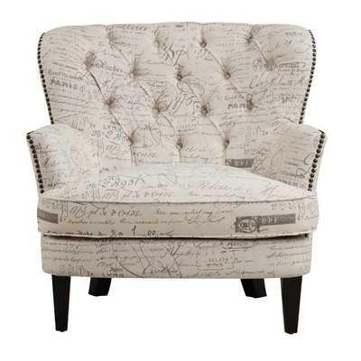 Stamm Script Upholstered Armchair - Wayfair