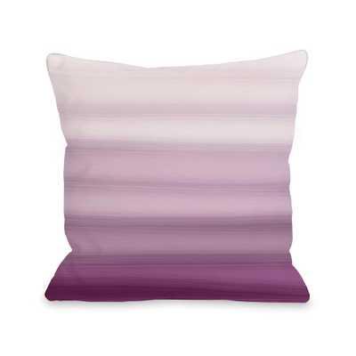 One Bella Casa Ombre Watercolors 16 in. x 16 in. Decorative Pillow, Purple - Home Depot