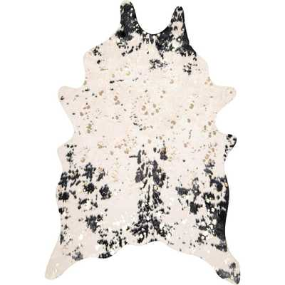 nuLOOM Iraida Faux Cowhide Black 5 ft. x 6 ft. 7 in. Shaped Rug - Home Depot