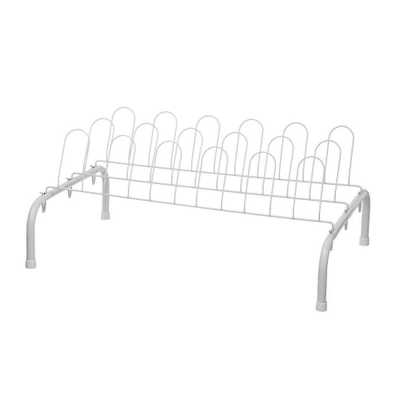 9-Pair Shoe Rack, White - Home Depot