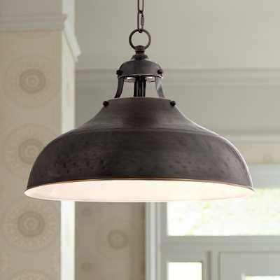 "Essex 16"" Wide Dyed Bronze Metal Pendant Light - Style # 4K757 - Lamps Plus"