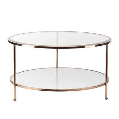 Cherlize Metallic Gold Cocktail Table, Metallic Gold With White - Home Depot