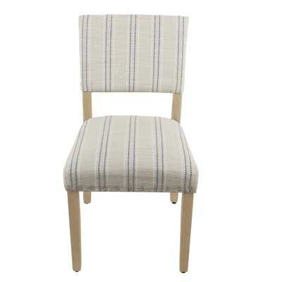 Camilo Stripe Upholstered Dining Chairs- set of 2 - Wayfair