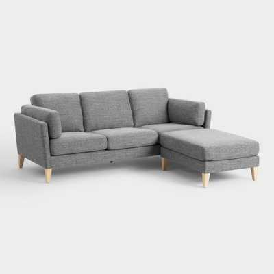 Graphite Woven Noelle Sofa and Ottoman by World Market - World Market/Cost Plus