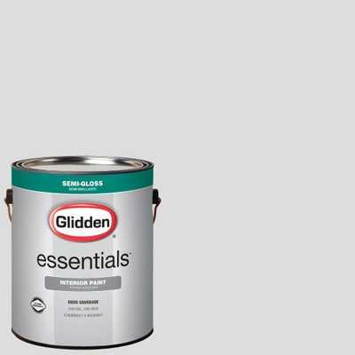 Glidden Essentials 1 gal. #HDGCN56U Touch Of Grey Semi-Gloss Interior Paint - Home Depot