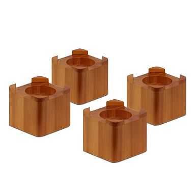 Square Bed Risers, Wood - Pottery Barn Teen