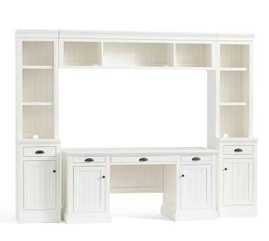 Aubrey Small Office Suite with Bridge, Dutch White - Pottery Barn