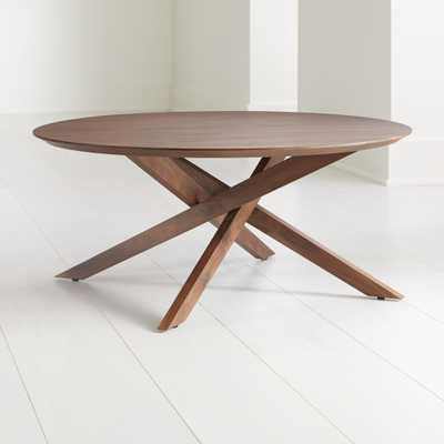 Apex Round Coffee Table - Crate and Barrel
