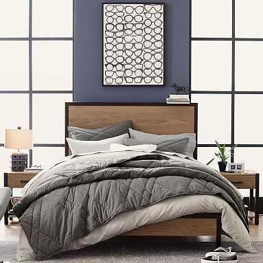 Kearny Classic Bed, Full, Smoked Gray/Dark Iron - Pottery Barn Teen