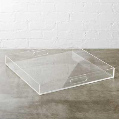 acrylic clear square tray - CB2