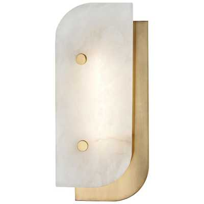 """Hudson Valley Yin and Yang 13""""H Aged Brass LED Wall Sconce - Style # 45K41 - Lamps Plus"""