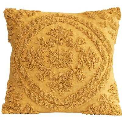 Kitterman Square Woven Looped Cotton Throw Pillow - Wayfair