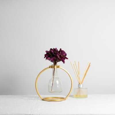 Nicol Brass Table Vase - Wayfair