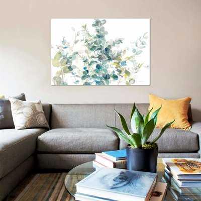'Eucalyptus on White I' Graphic Art Print on Canvas - Wayfair