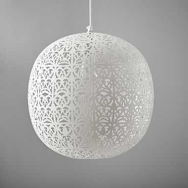"Punched Metal Pendant, Filigree, Large Round 16 x 16"" - Pottery Barn Teen"