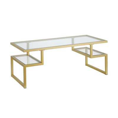 Hudson&Canal Zander Gold Coffee Table, Brass - Home Depot
