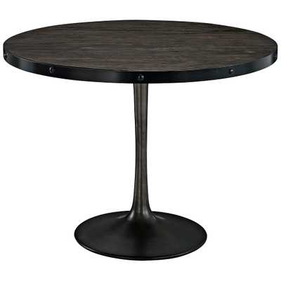 """Drive 39 1/2"""" Wide Black Round Dining Table - Style # 33R05 - Lamps Plus"""