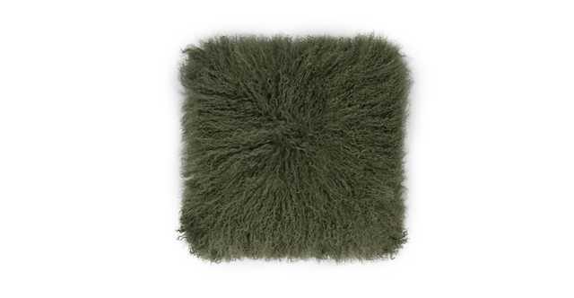 Bocco Green Sheepskin Pillow - Article