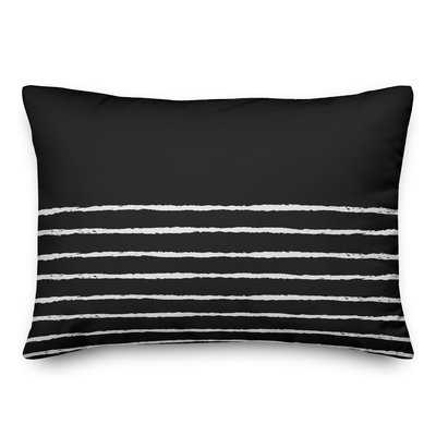 Cone Sketch Stripes Lumbar Pillow - Wayfair