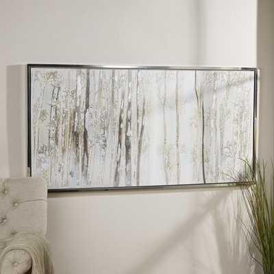 'Birch Trees' Picture Frame Print on Canvas - Birch Lane