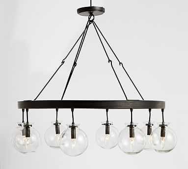 Barrett Glass Globe Chandelier - Pottery Barn