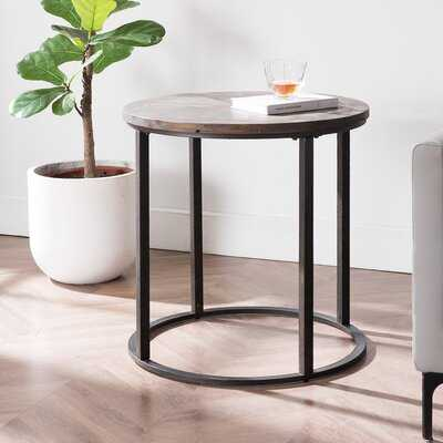 Rackley Round Industrial End Table - Wayfair