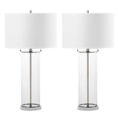 Safavieh Velma 31 in. Clear Table Lamp (Set of 2) - Home Depot