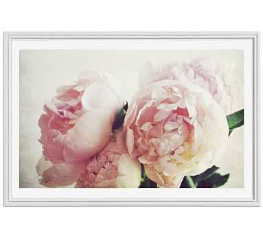 "Pink Peony by Lupen Grainne, 42 x 28"", Ridged Distressed, White, Mat - Pottery Barn"