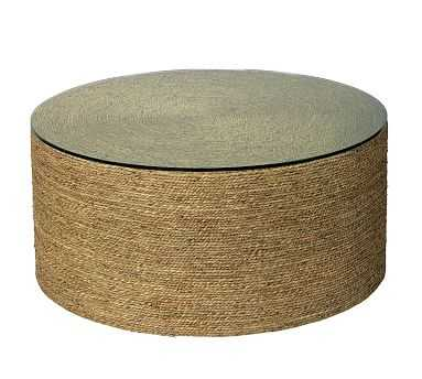Dixon Seagrass Round Coffee Table, Natural - Pottery Barn