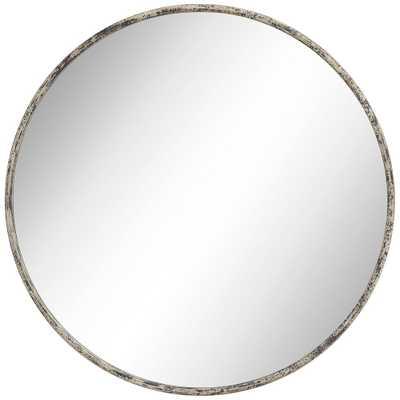 "Caden 35 1/2"" Round Distressed Black Wall Mirror - Style # 70T42 - Lamps Plus"