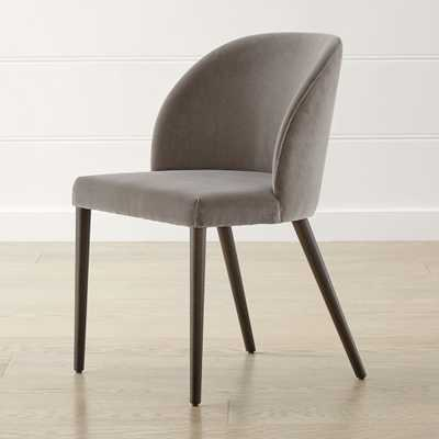 Camille Taupe Italian Dining Chair - Crate and Barrel
