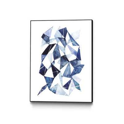 """CLICART 30 in. x 40 in. """"Chrysalis II"""" by Grace Popp Framed Wall Art, Blue - Home Depot"""
