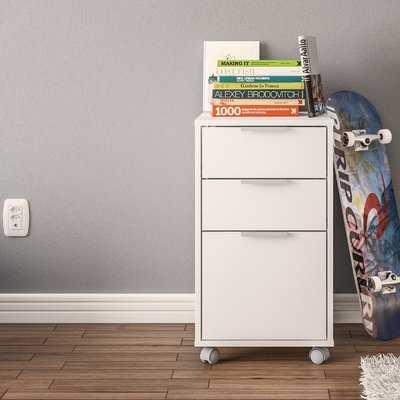 Castelli 3 Drawer Vertical Filing Cabinet - Wayfair
