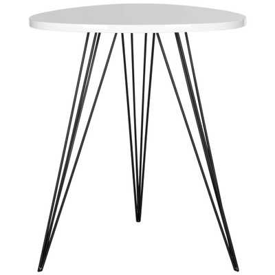 Wolcott White and Black Side Table, White/Black - Home Depot