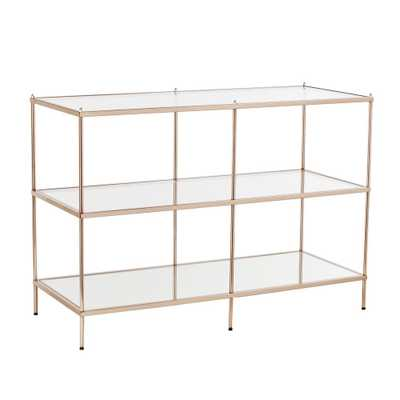 Pandora Warm Gold Console Table - Home Depot