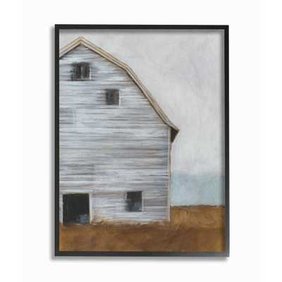 "16 in. x 20 in. ""Worn Old Barn Farm Painted"" by Ethan Harper Printed Framed Wall Art, Multi-Colored - Home Depot"