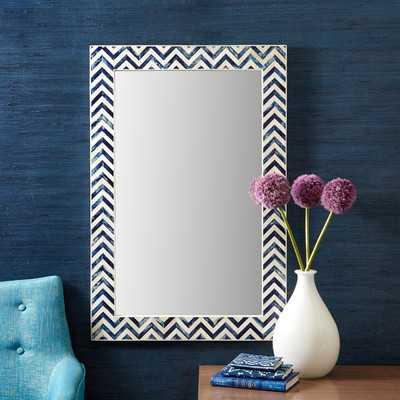 Rectanglar Chevron Bone Wall Mirror - Wayfair