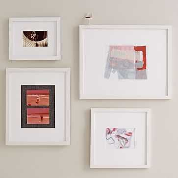 Gallery Frames, Set Of 4, Assorted Sizes, White Lacquer - West Elm