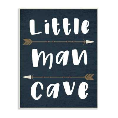 Little Man Cave Arrows Oversized Wall Plaque Art - Stupell Industries, Multicolored - Target